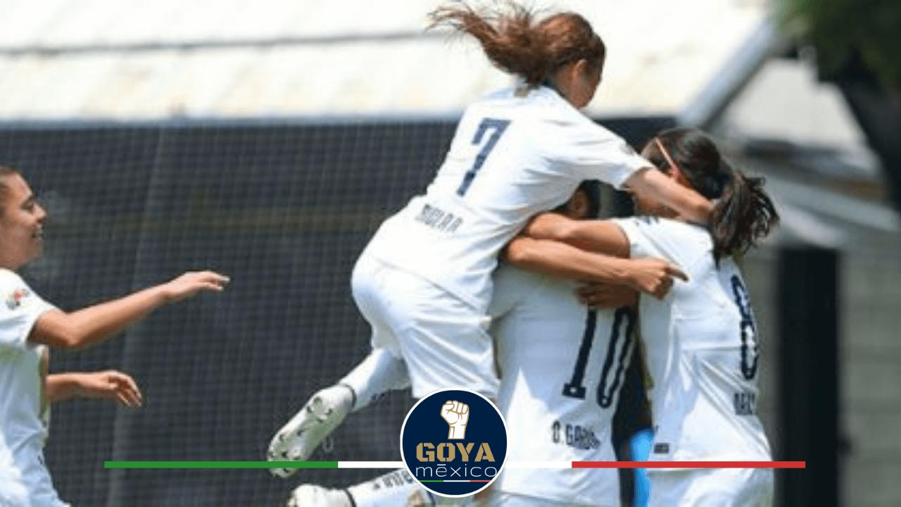 Ricla Rajunov festejando gol de Pumas