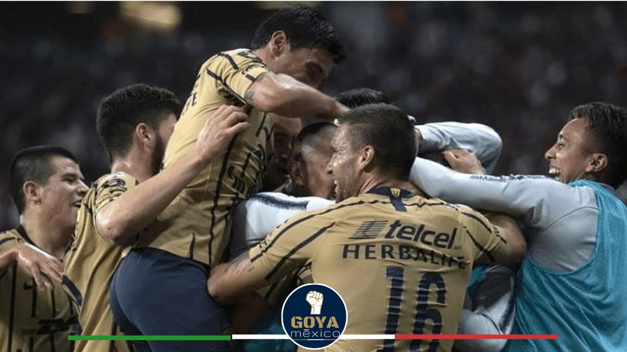 Festejo gol Pumas