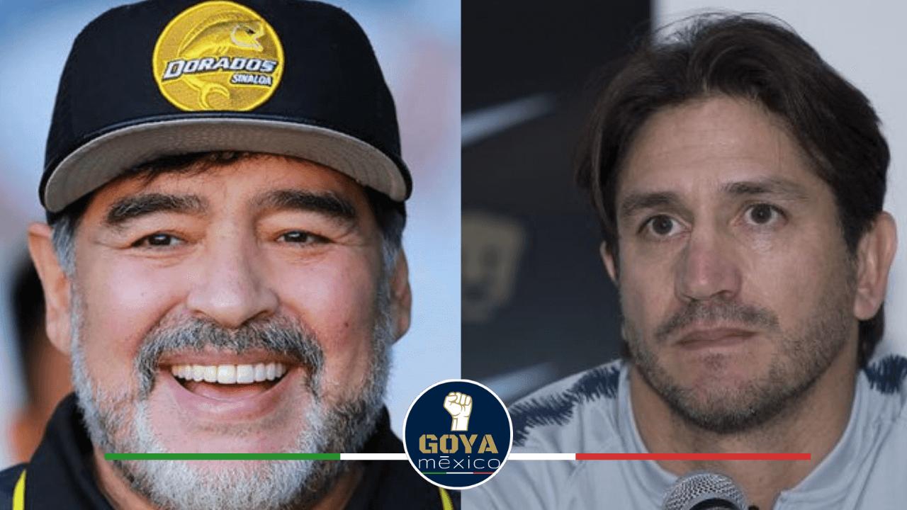 Diego Maradona y Bruno Marioni