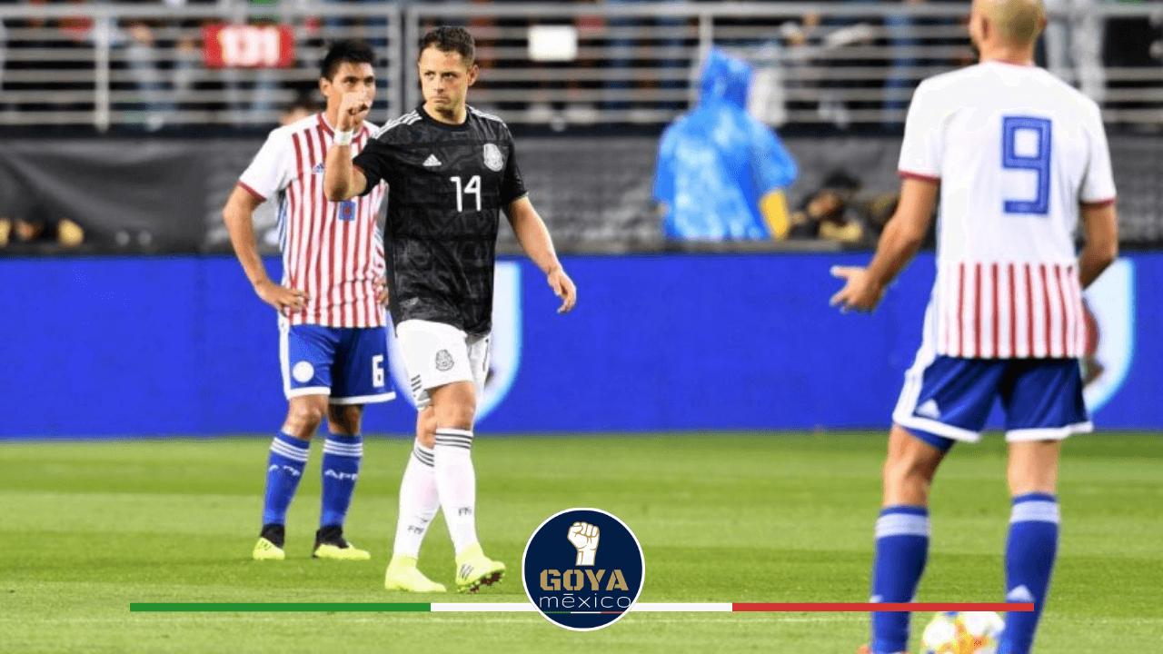 Carlos Gonzalez en su debut con Paraguay vs México
