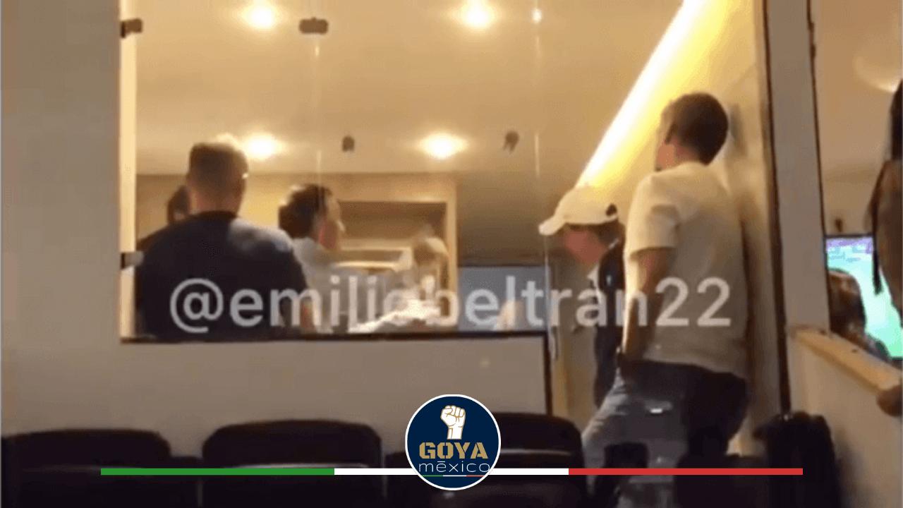 Ares de Parga regaño a Leandro Augusto en el Estadio Azteca