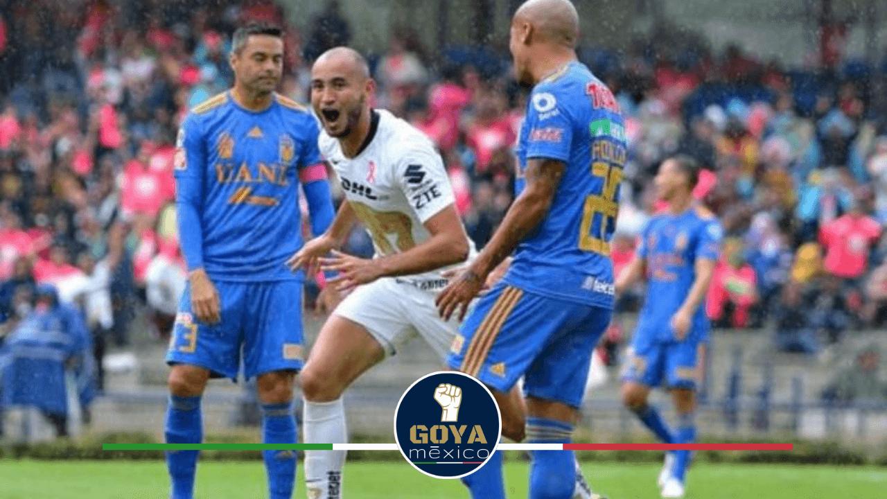 Tigres y Pumas se enfrentan en la Liga MX