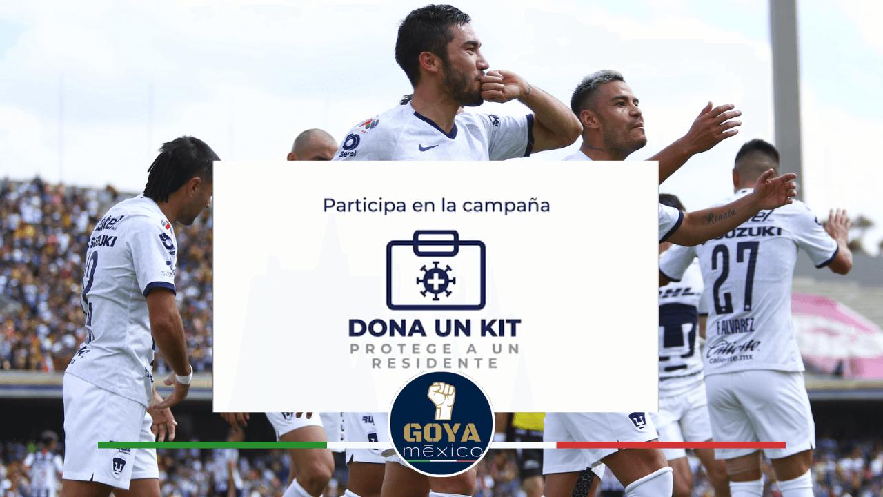 """""""Dona un Kit y Protege a un Residente"""" Pumas Participó con la Fundación UNAM."""