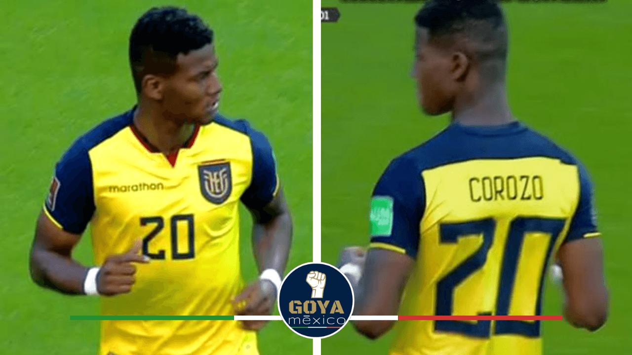 Washington Corozo debuta con la selección de Ecuador.